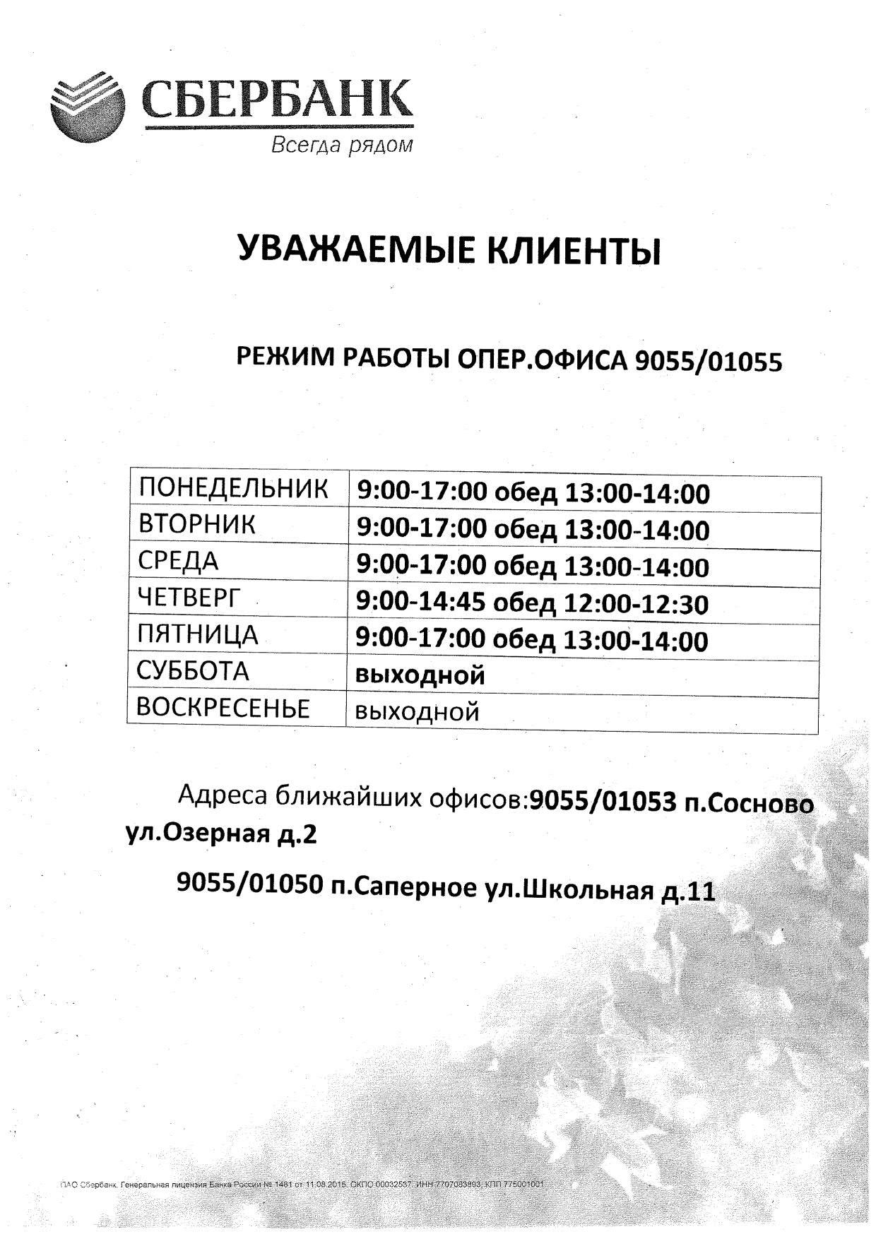 Режим работы Сбербанка_1