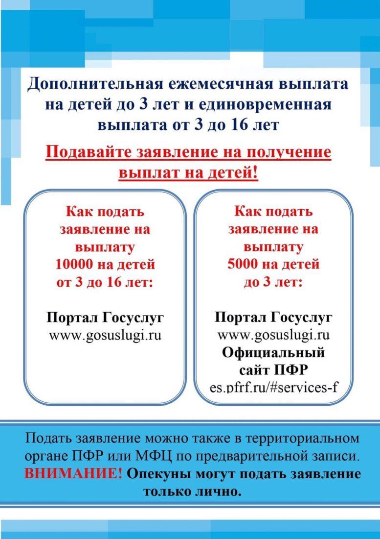 Выплаты на детей до 3-х лет и на детей от 3 до 16 лет._ПВ